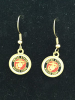 Marine Corps Enameled Earrings