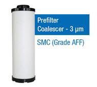 SMC650P - Grade P - Prefilter Coalescer - 3 um (AFF-EL37B/AFF37B-14D-T)