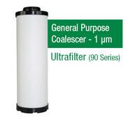 UF0525X - Grade X - General Purpose Coalescer - 1 um (FF05/25/AG0027FF)