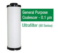 UF0525XO - Grade XO - General Purpose Coalescer - 0.1 um (MF05/25/AG0027RMF)