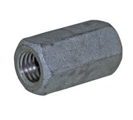 Coupler Nut Hexagon Metric Coarse Thread Steel Zinc Plated