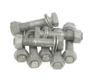 Bolt Set - PE to Steel Flange (Galvanized) - Table D / E