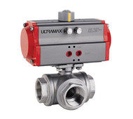 Ball Valve 3 Way Double Acting Pneumatic