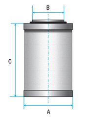 Vacuum Separators Elements with Silencer (Alternative to suite DVP)