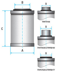 Vacuum Separators Element (Alternative to suite Hydrovane)