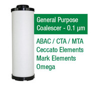 CE51090X - Grade X - General Purpose Coalescer Element - 1 um