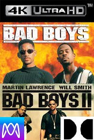 Bad Boys 1 & 2 - Vudu 4K or iTunes 4K via MA - (Digital Code)