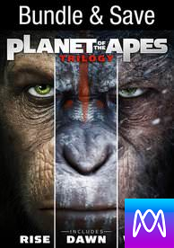 Planet of the Apes 3-pack - Vudu HD (InstaWatch)