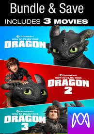 How to Train Your Dragon Trilogy - Vudu HD or iTunes HD via MA (Digital Code)