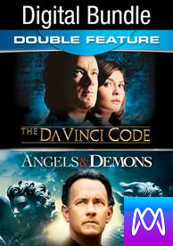 Da Vinci Code/Angels and Demons - Vudu HD or iTunes HD via MA (Digital Code)