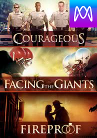 Courageous, Fireproof, Facing the Giants - Vudu SD or iTunes SD via MA (Digital Code)