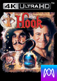 Hook - Vudu 4K or iTunes 4K via MA (Digital Code)