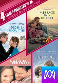 4 Film Favorites: Nicolas Sparks Romances - Vudu SD or iTunes SD via MA - (Digital Code)