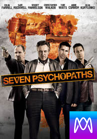 Seven Psychopaths - Vudu SD or iTunes SD via MA - (Digital Code)