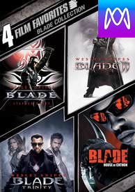 4 Film Favorites: Blade Collection - Vudu HD or iTunes HD via MA - (Digital Code)