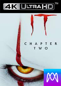 IT Chapter 2 - Vudu HD4K or iTunes 4K via MA - (Digital Code)