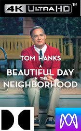A Beautiful Day in the Neighborhood - Vudu 4K or iTunes 4K via MA - (Digital Code)