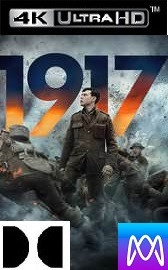 1917 - Vudu 4K or iTunes 4K via MA - (Digital Code)