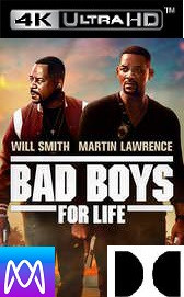 Bad Boys For Life - Vudu 4K or iTunes 4K via MA - (Digital Code)