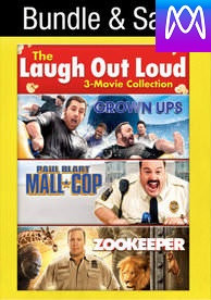 Laugh Out Loud: 3-Movie Collection: Kevin James - Vudu SD or iTunes SD via MA - (Digital Code)