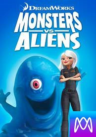 Monsters Vs Aliens - Vudu HD or iTunes HD via MA - (Digital Code)