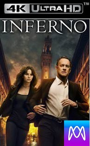 Inferno - Vudu 4K or iTunes 4K via MA - (Digital Code)