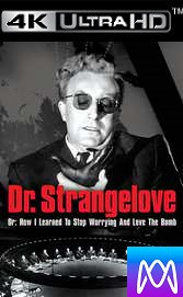 Doctor Strangelove - Vudu HD4K or iTunes 4K - (Digital Code)