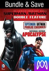 Superman/Batman Double Feature - Vudu HD or iTunes HD via MA - (Digital Code) PLEASE READ DESCRIPTION