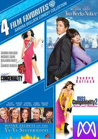 4 Film Favorites: Sandra Bullock - Vudu SD or iTunes SD via MA - (Digital Code)