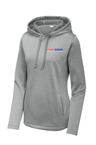 Sport-Tek ® Ladies PosiCharge ® Sport-Wick ® Heather Fleece Hooded Pullover