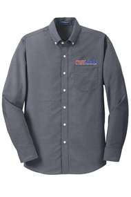 Men's Oxford Full Button Long Sleeve Shirt