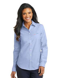 Ladies Oxford Full Button Long Sleeve Shirt