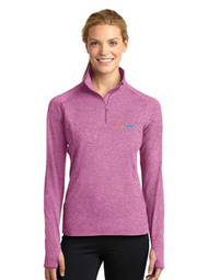 Ladies 1/2 zip Stretch Pullover