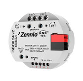 inBOX 24 v2 - Multifunction actuator for flush mounting with 2 outputs (16 A C-Load) and 4 analog-digital inputs