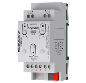 MINiBOX 25 v2 - Multifunction actuator with 2 outputs (16 A) and 5 analog-digital inputs