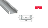 LED Profile Set - Profile Type D