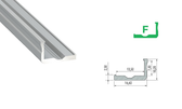 LED Profile Set - Profile Type F