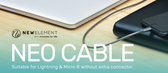 Neo Cable - Universal USB cable for Android & Apple Devices - Silver