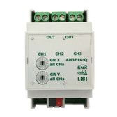 KNX Quick Switching Actuator 16A C Load 140μF 3-Channels - AH3F16-Q