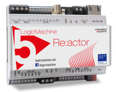 LM5Cp2-RD - LogicMachine5 Reactor Dimmer Power CANx with CAN FT | ModBus | BACnet | KNXnet/IP