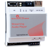 Streaming Audio player with amplifier 2 x 55W, DIN, KNXnet/IP