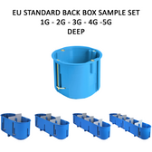 EU Standard Back Boxes ⌀60mm - 1G to 5G - Deep (60mm deep) - Sample Set