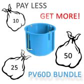 EU Standard Back Box ⌀60mm - Deep - Bundle Price!