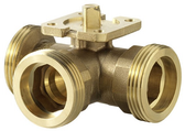 3-Way Regulating Ball Valve With Male Thread PN40