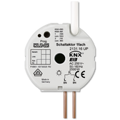 KNX Flush-Mounted Switch Actuator 1-G with Input