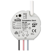 KNX Flush-Mounted Switch Actuator 2-G with Input