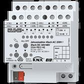 KNX Blinds Actuator 4-G AC 110-230V / 2-G DC 12-48V - 2504 REGHE