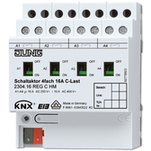 KNX Switch Actuator 4-G C-Load with Current Detection AC 110-230V - 2304.16 REGCHM