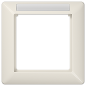 [AS]Frame with Window for Inscription Module 1-Gang