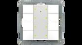 55mm KNX Push Button Plus 8-Fold - BE-TA55P8